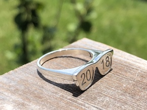 Glasses Ring 2018 in Polished Silver: 6 / 51.5