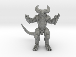 Cyber Gomora monster 59mm kaiju miniature game rpg in Gray PA12