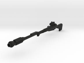 Mimban Sniper Rifle in Black Premium Versatile Plastic