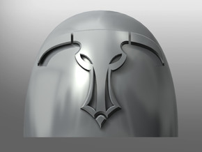 Coras ptrn Shoulder Pads: Daedalus Beasts in Smooth Fine Detail Plastic: Small
