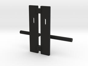 Contemporary door handle in 1:12 and 1:24  in Black Natural Versatile Plastic: 1:24