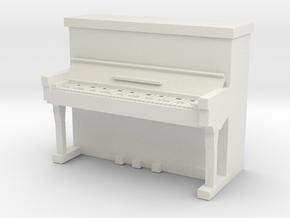 Piano 1/12 in White Natural Versatile Plastic