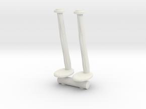 Tellermine Post (x2) 1/35 in White Natural Versatile Plastic