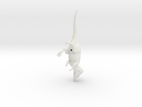 Aquilops walking pose in White Natural Versatile Plastic