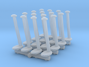 Tellermine Post (x16) 1/120 in Smooth Fine Detail Plastic
