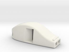 Emergency Whistle 118 dB in White Natural Versatile Plastic