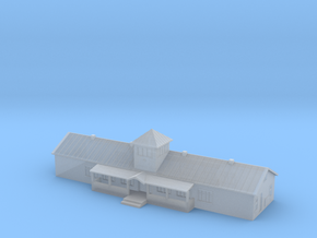 1:700 Scale Russian Airfield Building in Smooth Fine Detail Plastic