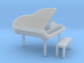 HO Scale Grand Piano in Smooth Fine Detail Plastic