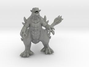 Togera kaiju monster 55mm miniature game fantasy in Gray PA12