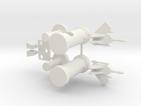 TF WFC: Siege - Rumble & Frenzy Accessories in White Natural Versatile Plastic