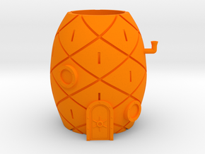 Spongebob House Planter in Orange Processed Versatile Plastic