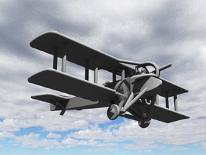 SPAD SA.4 (various scales) in White Natural Versatile Plastic: 1:144
