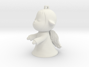 Yoshitomo Nara Inspiration The Little Wanderer Ang in White Natural Versatile Plastic: Medium