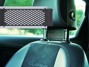 Car Headrest Grill - Blank in White Natural Versatile Plastic