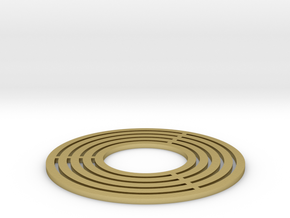 Brass Ring Flat in Natural Brass