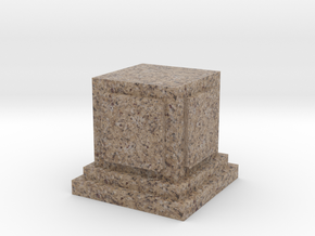 Pedestal for miniatures 1 in Full Color Sandstone