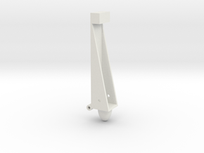 Left half clip in White Natural Versatile Plastic