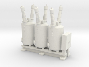 Electrical Substation Circuit Breaker in White Natural Versatile Plastic: 1:64 - S