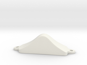 """Cocked Hat"" Pommel from Moulsford in White Natural Versatile Plastic"