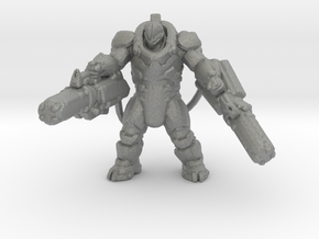 Talon Heavy Assault exosuit armor 40mm miniature in Gray PA12