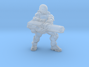 Talon Trooper with minigun 1/60 miniature game rpg in Smooth Fine Detail Plastic