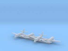 EMB 110 w/Gear x4 (MD) in Smooth Fine Detail Plastic: 1:700