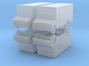 UPS Delivery Van (x4) 1/400 in Smooth Fine Detail Plastic