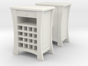 Wine Cabinet (x2) 1/43 in White Natural Versatile Plastic