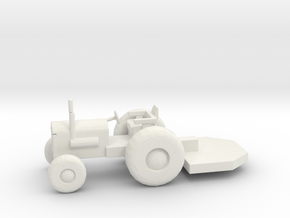 S Scale Tractor with Bushhog in White Natural Versatile Plastic