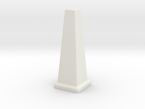 Wet Floor Cone 1/12 in White Natural Versatile Plastic