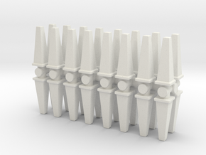 Wet Floor Cone (x32) 1/120 in White Natural Versatile Plastic