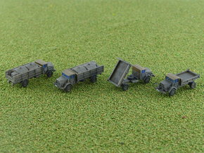 German MAN 630 5to Truck Variants 1/285 6mm in Smooth Fine Detail Plastic