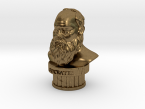 Socrates Bust in Natural Bronze