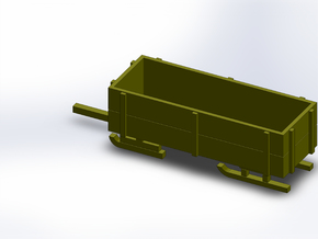 SNOW TRAILER in Smooth Fine Detail Plastic