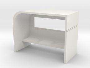 Modern Bus Shelter 1/48 in White Natural Versatile Plastic