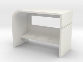 Modern Bus Shelter 1/24 in White Natural Versatile Plastic