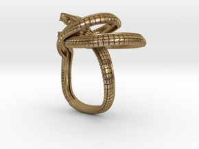 orm_ring in Polished Gold Steel