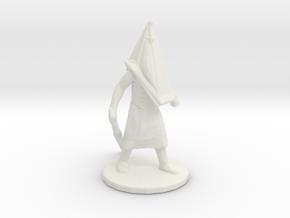 Silent Hill Pyramid Head 45mm miniature fantasy in White Natural Versatile Plastic