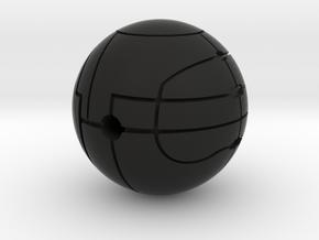 Apple of Eden Solid Pendant in Black Natural Versatile Plastic