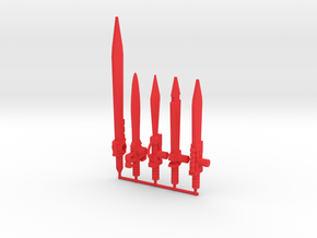 Dinobots Swords in Red Processed Versatile Plastic: Large