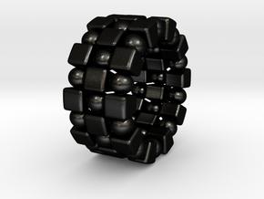 Claudette T. - Ring in Matte Black Steel: 6 / 51.5