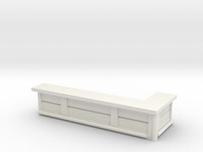 Bar Counter (right corner) 1/87 in White Natural Versatile Plastic
