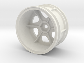 tamiya 2.2 astute left rear wheel  in White Natural Versatile Plastic