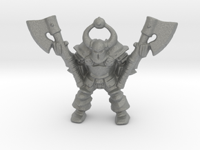 Chaos Lord 28mm miniature classic 2 axes games rpg in Gray PA12