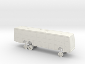 HO Scale Bus 2000 Van Hool T2145 NorCal Charter in White Natural Versatile Plastic