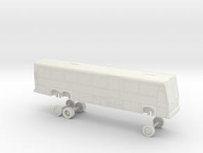 HO Scale Bus 2001 MCI D4500 SJRTD 2000s in White Natural Versatile Plastic