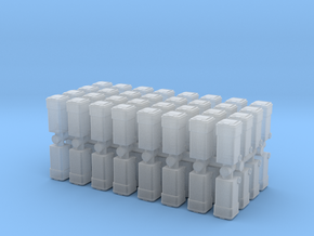 Waste Container Bin (x64) 1/350 in Smooth Fine Detail Plastic