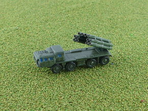 9A52 Smerch MLRS Battery 1/285 6mm in Smooth Fine Detail Plastic