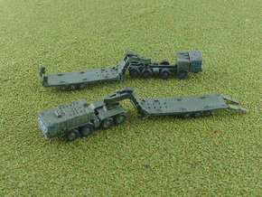 Russian MZKT 7415 Tractor with ChMZAP 9990 1/285 in Smooth Fine Detail Plastic