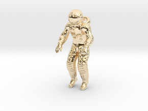 Floating Cosmonaut / Astronaut (40mm) in 14K Yellow Gold